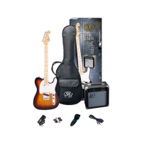 SX Telecaster Style Electric Guitar & Amp Pack - Sunburst