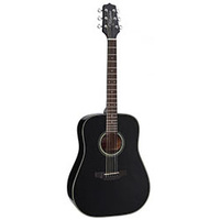 Takamine D2 Series Dreadnought Acoustic Guitar in Black Gloss Finish