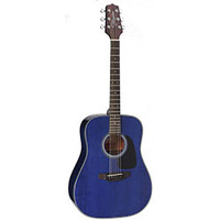 Takamine D2 Series Dreadnought Acoustic Guitar in Blue Gloss Finish