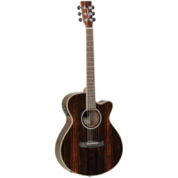 Tanglewood TDBTDLXSFCEEB Discovery Exotic Superfolk C/E All Ebony