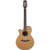 Takamine Pro Series 3 Left Handed FCN Nylon String AC/EL Guitar with Cutaway