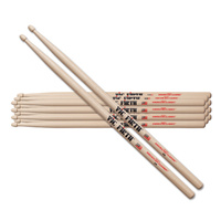 Vic Firth American Classic 5A Drumsticks 6 Pack - Choose Tip