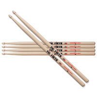 Vic Firth American Classic 5B Drumsticks 3 Pack - Choose Tip